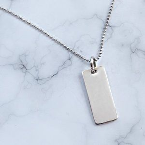 💥💥Sterling Silver Dog Tag Necklace💥💥